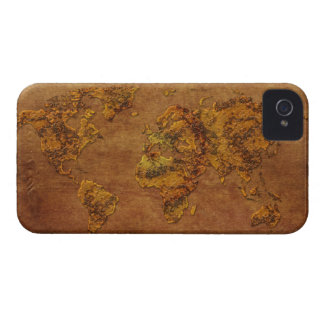 Modern Rustic World Map Parchment Blackberry Case
