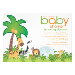 Modern Safari Animals Baby Shower Invitation
