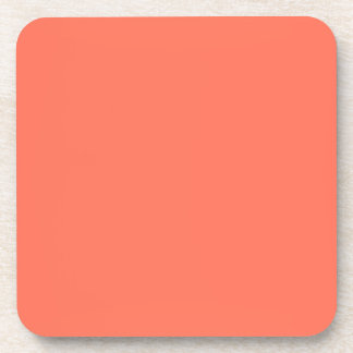 Modern Salmon Orange Customizable Drink Coaster