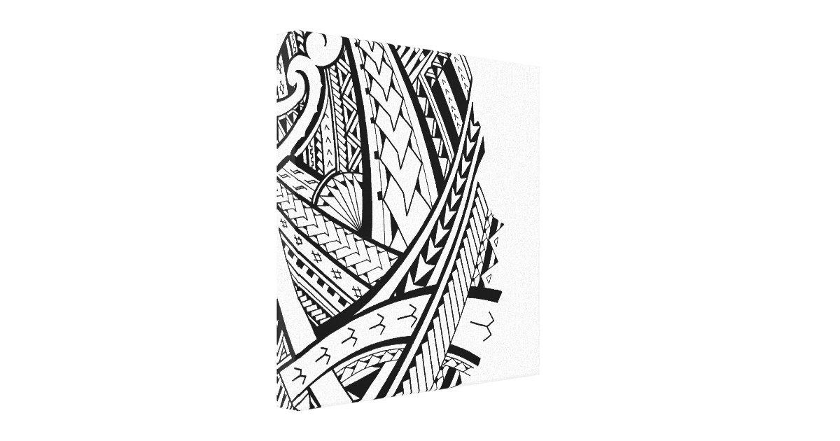 Modern Samoan Tattoo Art Canvas Print Zazzle Com