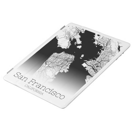 Modern San Francisco City Map iPad Smart Cover