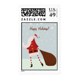 Modern Santa Claus Christmas Postage