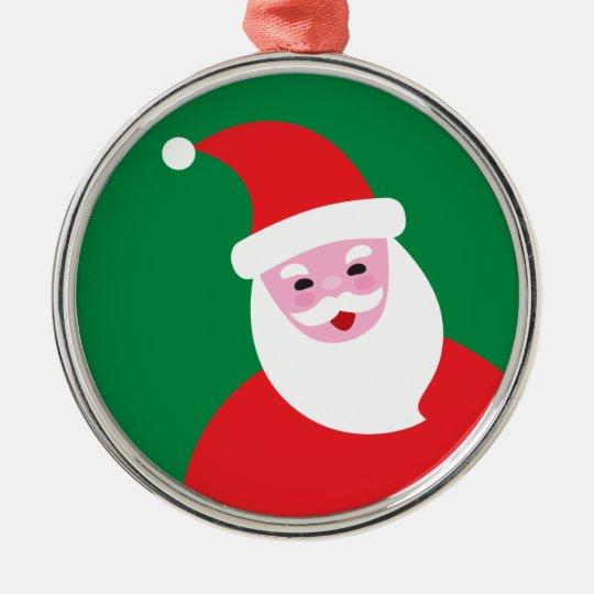 Modern Santa Ornament