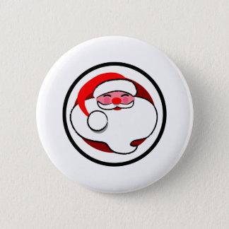 Modern Santa Pinback Button
