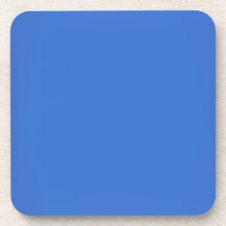 Modern Sapphire Blue Customizable Drink Coaster