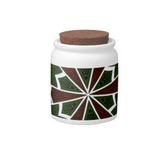 Modern Sari Candy Jar