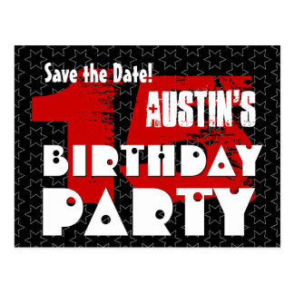 Modern Save the Date 15th Birthday Party W10E Postcard