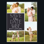"Modern Save The Date 4-Photo Classic Collage Postcard<br><div class=""desc""></div>"
