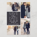 """Modern Save The Date 4-Photo Collage<br><div class=""""desc"""">Modern Save the date photo card featuring a 4-photo collage and modern fonts.</div>"""