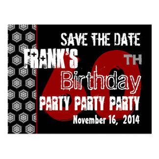 Modern Save the Date  60th Birthday Party R200 Postcard