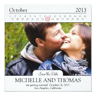 Modern Save the Date Add your own Image Card