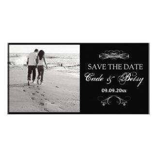 "Modern ""Save-the-date"" Announcement (Photo) B&W"