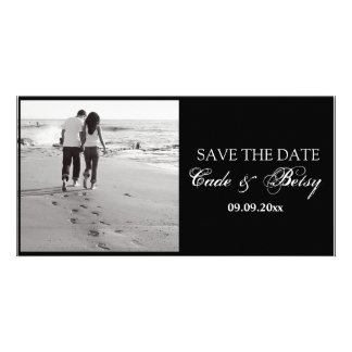 Modern Save-the-date Announcement Photo B W Photo Greeting Card