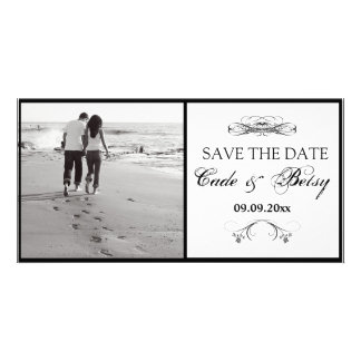 Modern Save-the-date Announcement Photo Personalized Photo Card