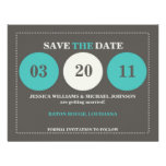 Modern Save the Date Personalized Announcements