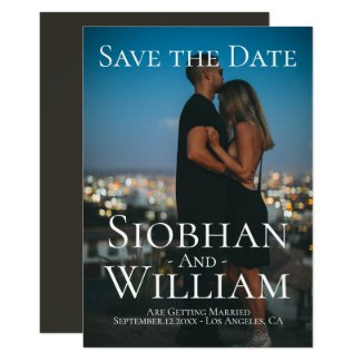 Modern Save The Date Personalized Photo Invitation