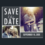 "Modern Save The Date Photo Collage Postcard<br><div class=""desc""></div>"