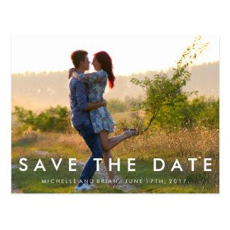 Modern Save the Date Photo Design Postcard
