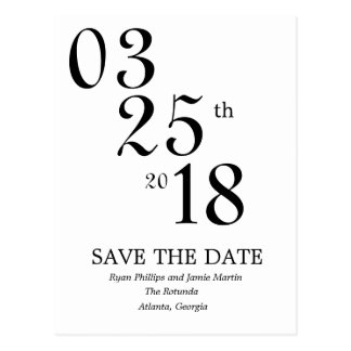 Modern Save the Date Post Card