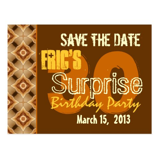 Modern Save the Date Surprise 30th Party G530 Post Cards