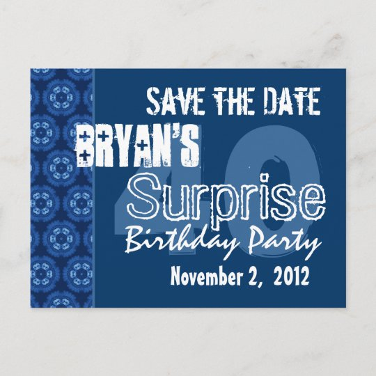 modern save the date surprise 40th party v401 announcement postcard