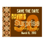 Modern Save the Date Surprise 50th Party W1947 Postcards