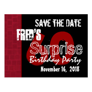 Modern Save the Date Surprise 60th Party W1942A Postcard