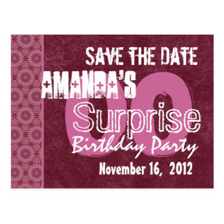 Modern Save the Date Surprise Any Year Party V03 Postcard