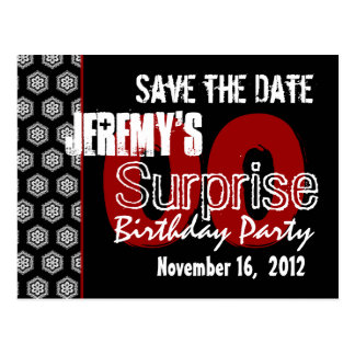 Modern Save the Date Surprise Any Year Party V338 Postcard