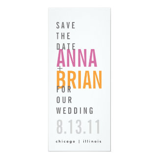Modern Save the Date with Bold Fonts Card