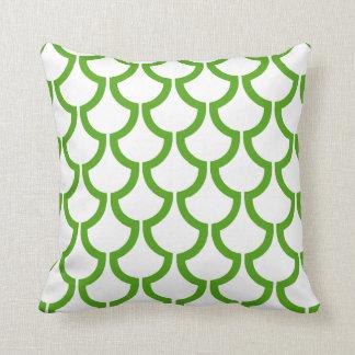 Modern Scales Geometric | green white Pillow