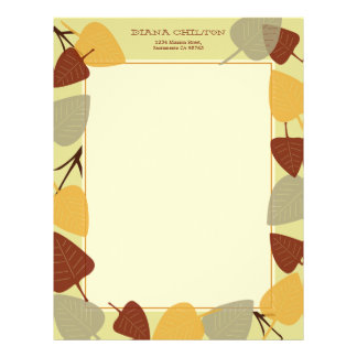Modern scattered leaves autumn thanksgiving theme letterhead