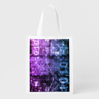 Modern Science Research and Engineering Design Art Grocery Bag