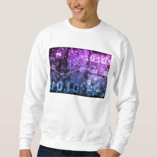 Modern Science Research and Engineering Design Art Sweatshirt
