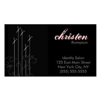 modern scissors business card
