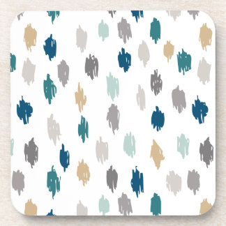 Modern Scribbles Coasters (Blue Gray)