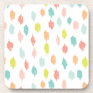 Modern Scribbles Coasters (Citron Teal)