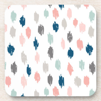 Modern Scribbles Coasters (Pink Blue)