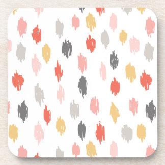 Modern Scribbles Coasters (Pink Orange)