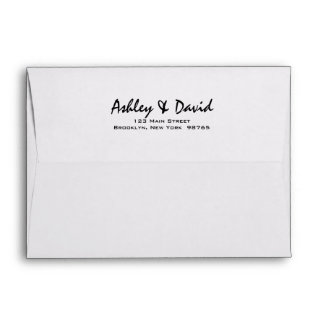 Modern Script 5x7 Invitation Envelope