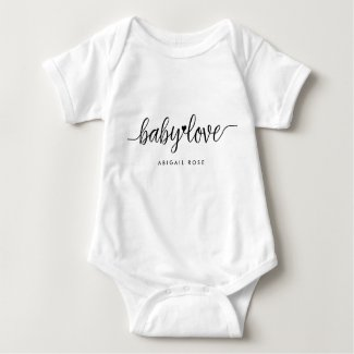 Modern Script Baby Love Romper