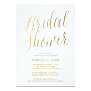 modern script bridal shower invitation
