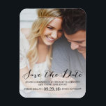 "Modern Script | Custom Photo Save The Date Magnet<br><div class=""desc"">Modern Script 