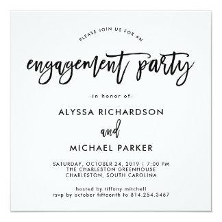 Modern Script   Engagement Party Invitation