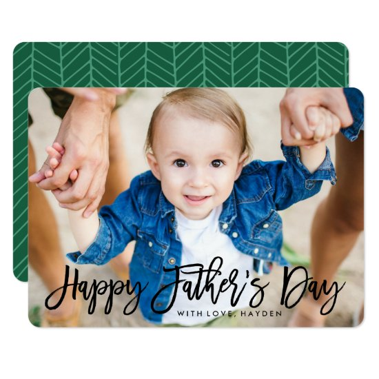 Modern Script | Father's Day Photo Card