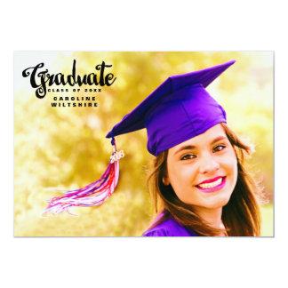 Modern Script Graduation Photo Card