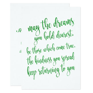 Modern Script Green Glitter St Patrick's Day Party Card