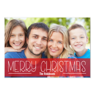 MODERN SCRIPT HOLIDAY PHOTO CARD MERRY CHRISTMAS