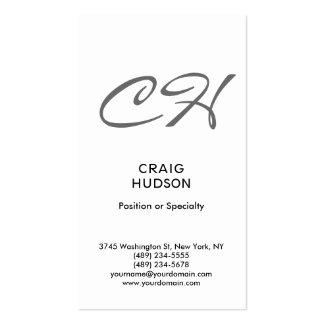 Modern Script Monogram Professional Business Card