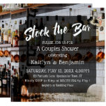 Modern Script Photo Stock the Bar Couples Shower 2 Invitation